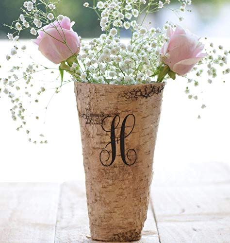 Personalized Birch Vase - Engraved Birch Vase - Wood Planter - Personalized Wedding Gift - 9