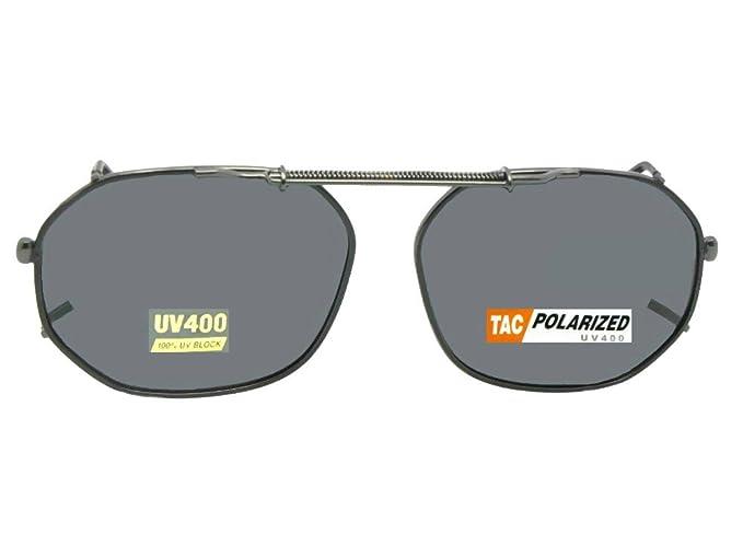 31c6c98c17 Amazon.com  Round Square Polarized Clipon Sunglasses (Dark Bronze-Polarized  Amber Lens