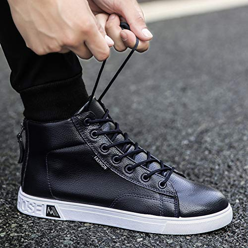 LOVDRAM Stiefel Männer Schuhe Mode Männer Hohe Herbst Und Winter Casual Männer Schuhe Jugend Wilde Mode Schuhe