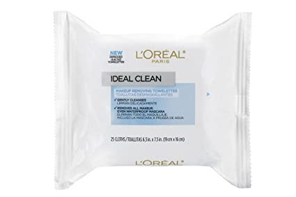 LOreal Paris Ideal Skin Make Up Removing Towelettes, 25 Pieces ...