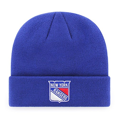 OTS NHL New York Rangers Raised Cuff Knit Cap, Royal, One Size