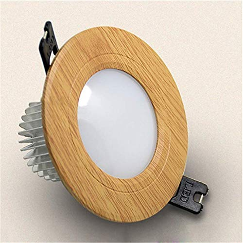 Ceiling Lamp Downlight LED Spotlight Embedded Recessed Light Living Room Wooden Ceiling Panel Ceiling Corridor Lamp Ceiling Light for Living Room Bedroom (Color : C2-3colors Light, Size : 3W)