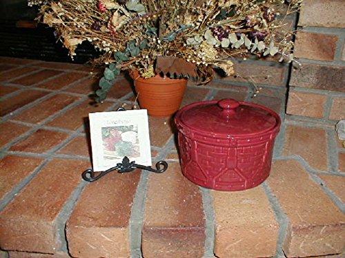 Longaberger Drum Crock / Casserole Dish in Paprika Red