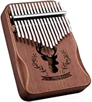 高品質の17鍵カリンバ, 親指ピアノ Kalimba 17音の指ピアノ, ハンマー、スタディガイド。
