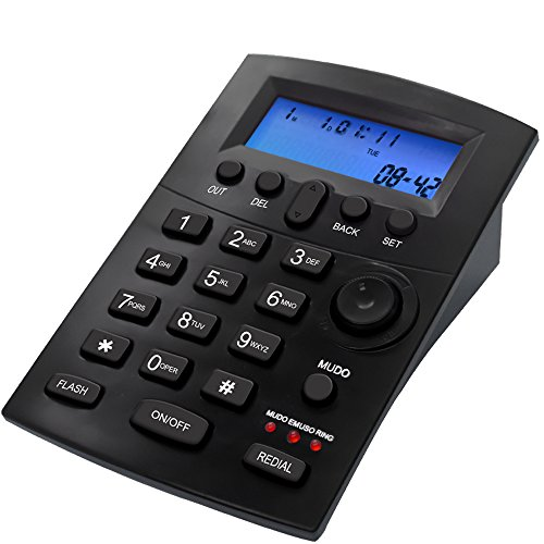 Center Phone Dialpad Corded Telephone with Headset Caller ID Landline Home Office Desk Phone for Business Noise Cancellation ()