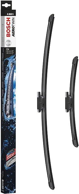 Escobilla limpiaparabrisas Bosch Aerotwin A868S, Longitud: 650mm/340mm – 1 juego para el parabrisas (frontal): Amazon.es: Coche y moto