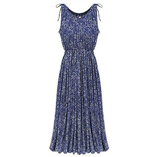 ESTD Women Fashion Boho Floral Sleeveless Long Dress Summer Maxi Beach Party Skirt (XXL) (Printed Dress Form compare prices)