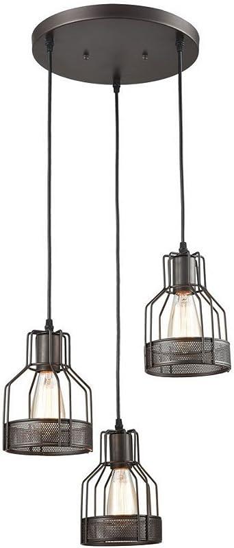 Retro E27 – Lámpara de techo Araña en jaula hierro lámpara ...