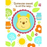 Baby : Disney Pooh Little Hunny Bunny Baby Shower Invitations (8 count) Party Accessory