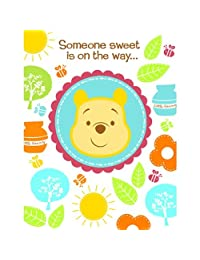 Disney Pooh Little Hunny Bunny Baby Shower Invitations (8 count) Party Accessory