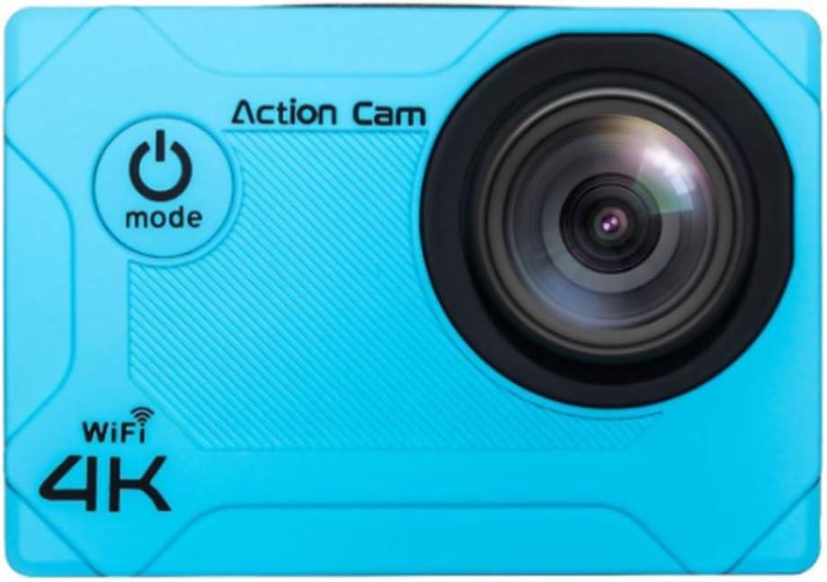 XRQ Cámara Deportiva multifunción 4K Mini cámara Deportiva Impermeable WiFi cámara de Buceo HD para Exteriores Material ABS 1600w píxeles Disponibles 90 Minutos,Azul: Amazon.es: Hogar