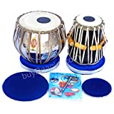 Mukta Das Tabla Set, Professional Tabla, 2.5 Kilograms Brass Bayan, Sheesham Tabla Dayan - Tuneable To C Sharp, Padded Bag, Book, Hammer, Cushions, Cover, Tabla Hand Drums (PDI-AIF)