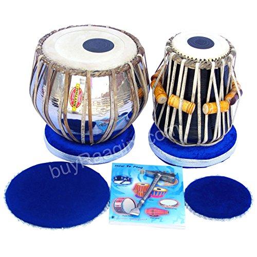 Mukta Das Tabla Set, Professional Tabla, 2.5 Kilograms Brass Bayan, Sheesham Tabla Dayan - Tuneable To C Sharp, Padded Bag, Book, Hammer, Cushions, Cover, Tabla Hand Drums (PDI-AIF) by Mukta Das