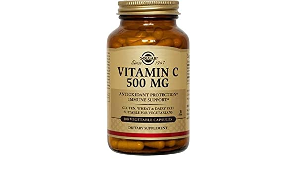 Solgar Vitamin C Vegetable Capsules, 500 mg, 250 Count by Solgar: Amazon.es: Salud y cuidado personal
