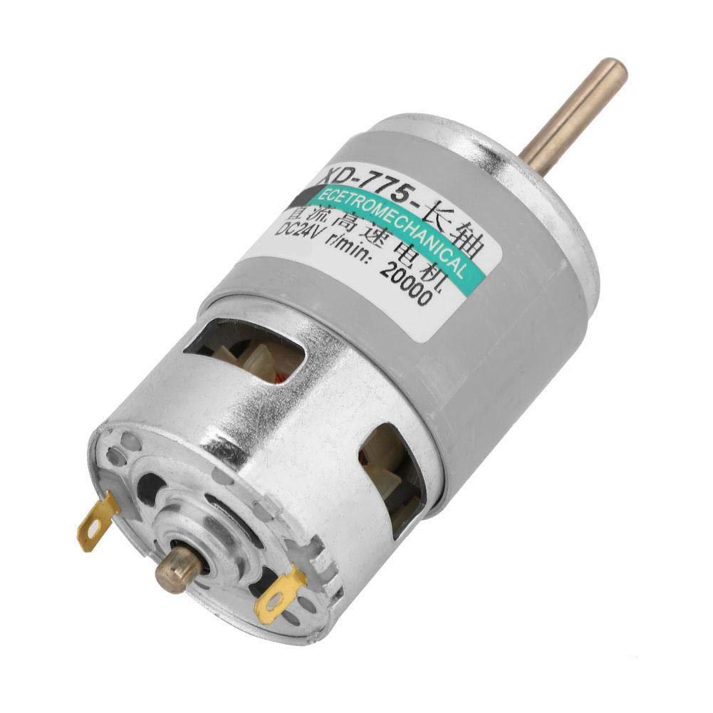 24 V 20000 U//min Drehmomentverl/ängerungsmotor Hochleistungsdrehmomentmotor 775 Motor Hochgeschwindigkeits-80-W-Hochleistungs-Gleichstrommotor f/ür elektrische Hochleistungs