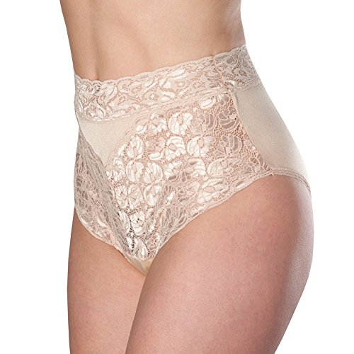 Women's Beige Lovely Lace Trim Incontinence Panties Medium (Lace Incontinence Panty)