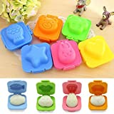 Actopus 6 Pcs Boiled Egg Mold Bento Cutters Food