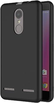 AICEK Funda Lenovo K6, Negro Silicona Fundas para Lenovo K6 Carcasa Lenovo K6 Negro Silicona Funda Case: Amazon.es: Electrónica