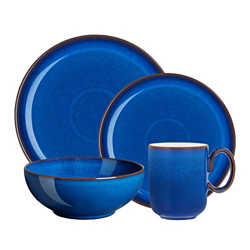(Denby 4 Piece Imperial Blue Kitchen Collection Set, Royal)