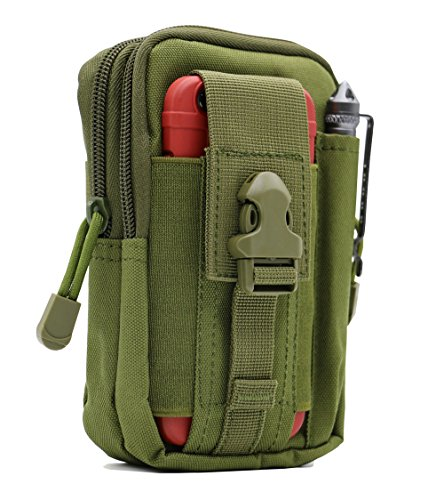 LefRight Tactical Molle Pouch EDC Utility Gadget Outdoor Men Waist Bag with Phone Belt Clip Holder Holster for iPhone 6s/7/X Samsung S8 Pixel Moto Z Force Play ()