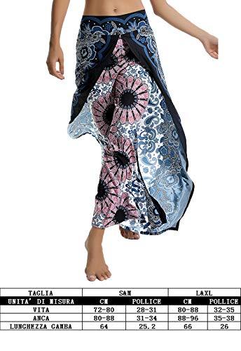 bloomers pantaloni donna stampa yoga esotico larghi turca cavallo goccia Modello 7 alla SEASUM fiori con a 8vUTqwd7
