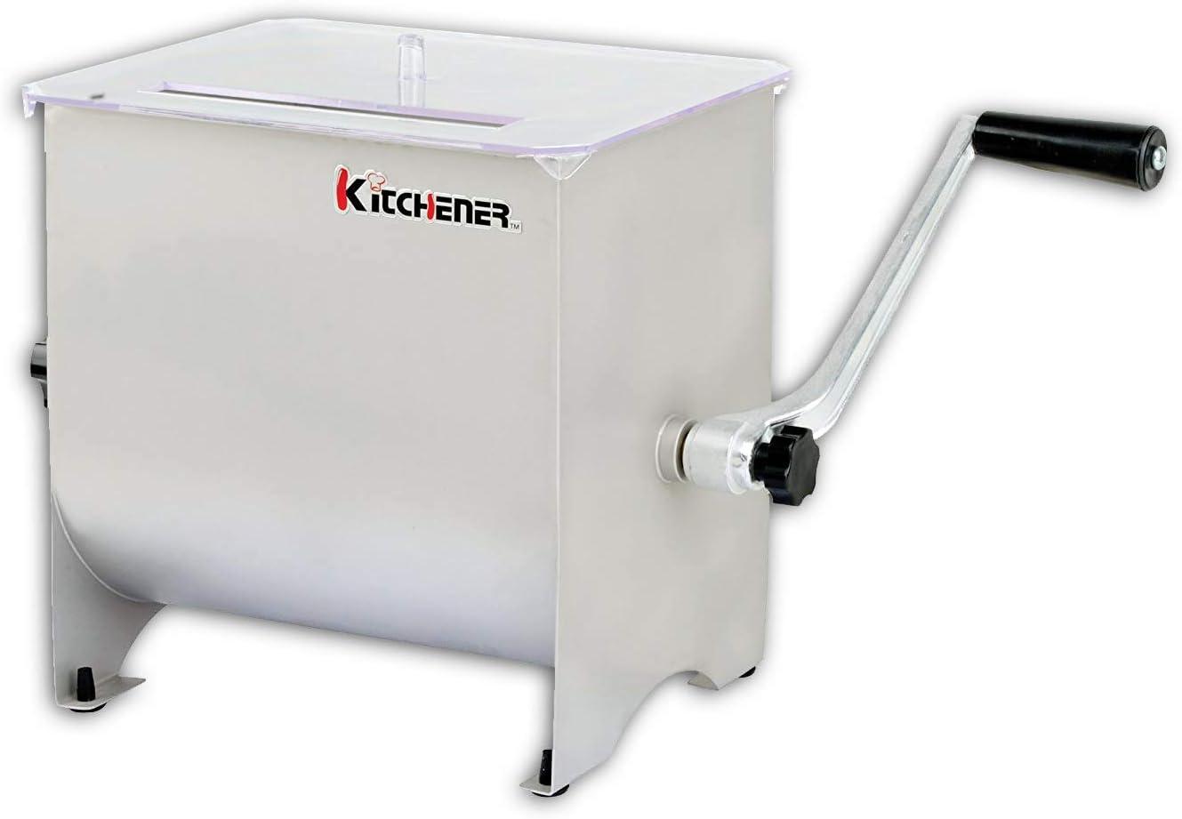 Kitchener Mano Grado Heavy Duty Comercial manivela de Acero Inoxidable Mezclador Manual de la Carne