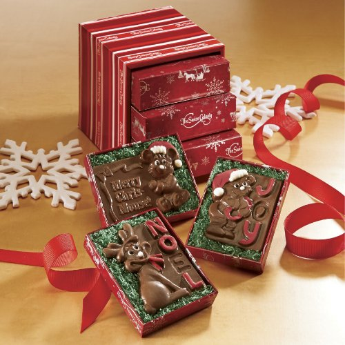 Trio of Chocolate Christmas Cards from The Swiss Colony (Fanciful Baskets)