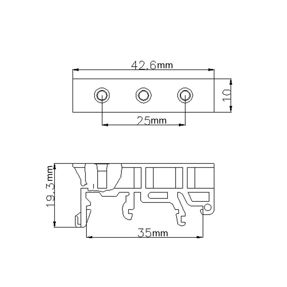 10sets 35mm PCB DIN C45 Rail Adaptateur de Voyage Universel de Transporteur DIY /Électrique