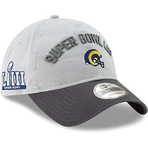 New Era Los Angeles Rams Super Bowl LIII Bound Two-Tone 9TWENTY Adjustable Hat - Gray/Charcoal