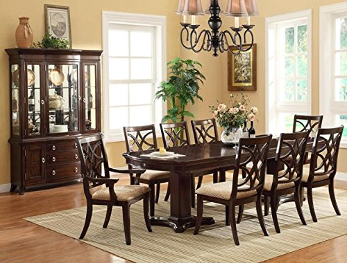 Brand New 7-pc Katherine Dining Table (with 2x 18'' Leaf) and 2 Dining Arm Chairs and 4 Dining Side Chairs Set