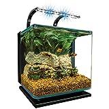 Marineland Contour Glass Aquarium Kit with Rail Light, 3-Gallon