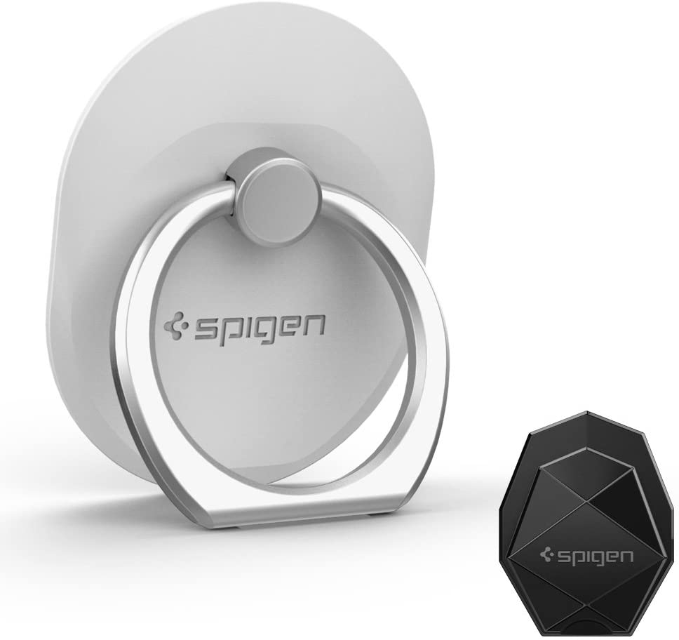 Spigen Style Ring Cell Phone Ring Phone Grip/Stand/Holder for All Phones and Tablets - White