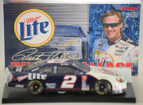 - 2000 - Action - NASCAR - Rusty Wallace - #2 Ford Taurus - Miller Lite - 1 of 10,500 - 1:24 Scale - Die Cast Metal - Limited Edition - Out of Production - New
