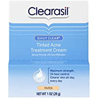 Clearasil Daily Clear Tinted Acne Treatment Cream, 1 oz. (Pack of 5)