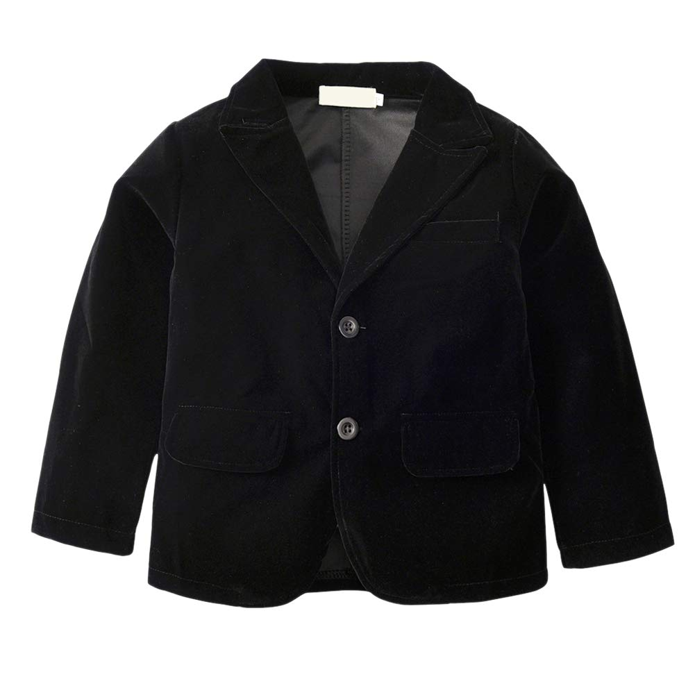Tortor 1Bacha Boys Cotton Velvet Blazer Dress Jacket