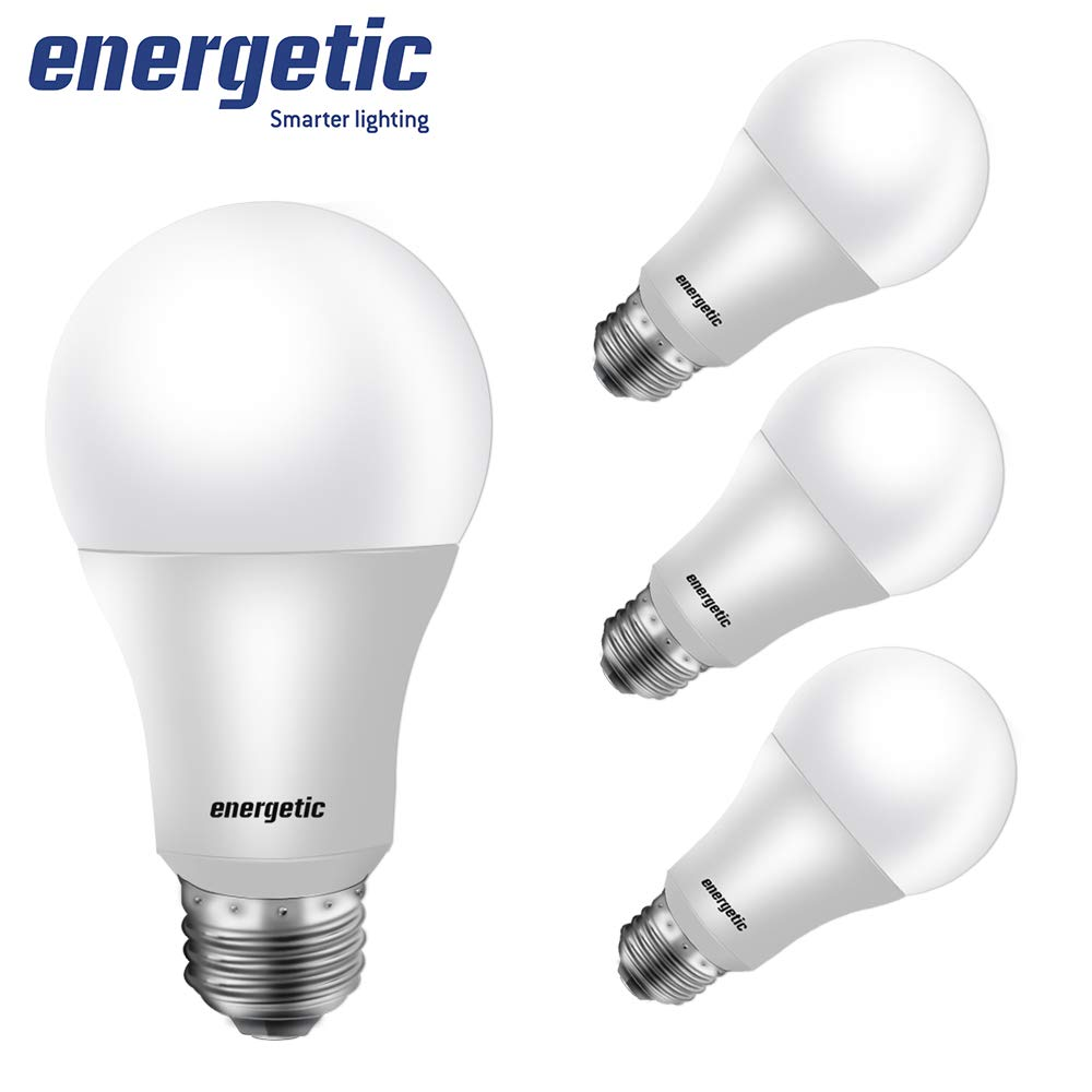 40W Equivalent A19 LED Light Bulb, Warm White 3000K, E26 Standard Base, UL Listed, Non-Dimmable LED Light Bulb, 4-Pack