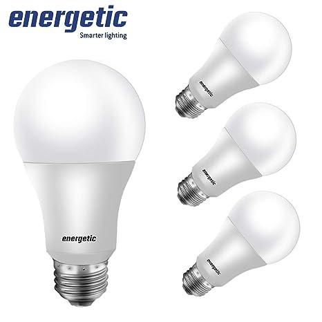 Amazon.com: Bombilla LED A19, equivalente a 60 W de luz ...