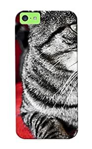 GAGrhdc1364IkWaI Red Cats Animals Grey Paws Awesome High Quality Iphone 5c Case Skin