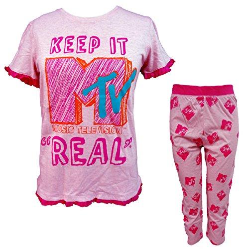 pigiama pinocchietto MTV G56WP190 cotone art Rosa in manica donna mezza AYxrAXRq