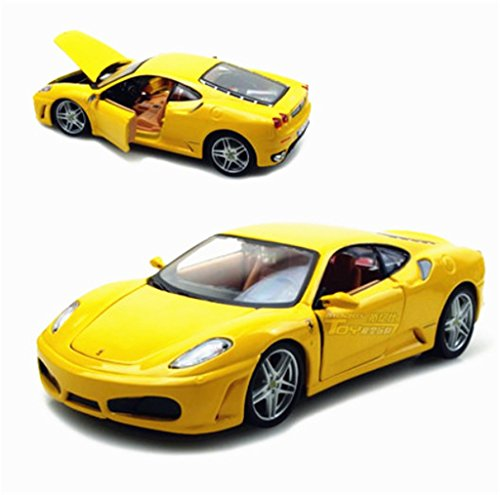 Bburago 1:24 Ferrari F430 Diecast Model Sports Car New in Box Yellow (F430 Diecast Ferrari)