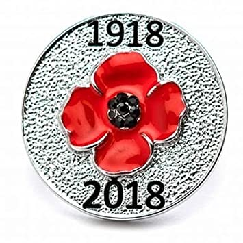 Official 1918-2018 POPPY LAPEL PIN BADGE MINT CONDITION NEW