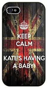 "iPhone 6 (4.7"") Keep calm Kate's having a baby - black plastic case / Keep calm By SHURELOCK TM"