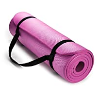 HemingWeigh 1/2-Inch Extra Thick High Density Exercise Yoga Mat with Carrying Strap for Exercise, Yoga and Pilates from HemingWeigh