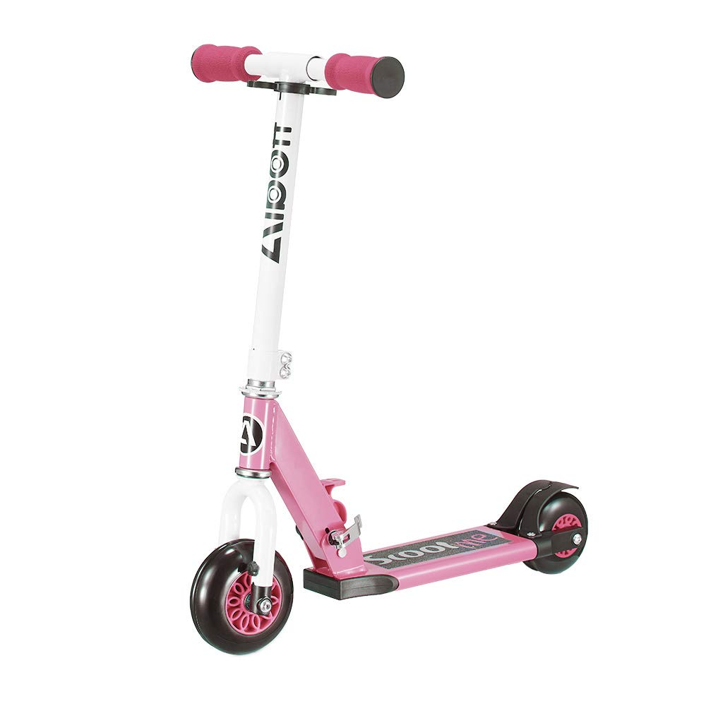 Albott Kid Scooter My 1st Scooter Folding Removable 4 Wheel Scooters for Kids 3 Growth Stage Transformer Toddler Scooters Age 2-5 (Pink) by Albott