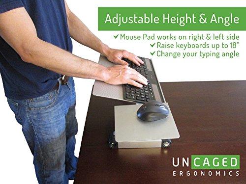uncaged ergonomics workez keyboard tray   mouse pad