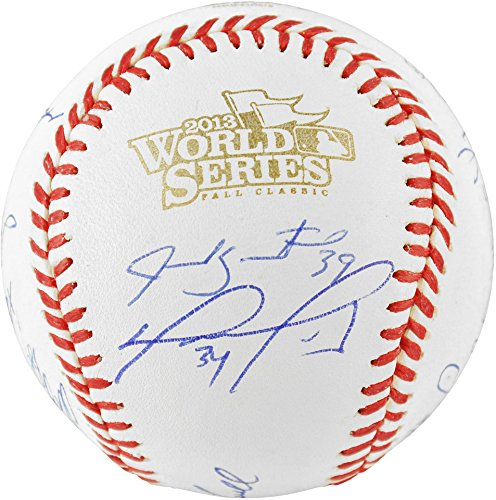 Boston Red Sox 2013 World Series Champions Team Autographed World Series Baseball with 20 Signatures - Limited Edition of 100 - Fanatics Authentic Certified - David Autographed Baseball