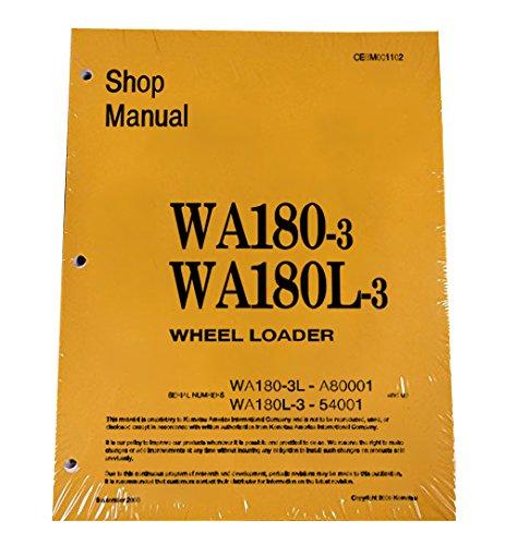 Komatsu WA180-3, WA180L-3 Wheel Loader Workshop Repair Service Manual - Part Number # (Wheel Loader Parts Manual)