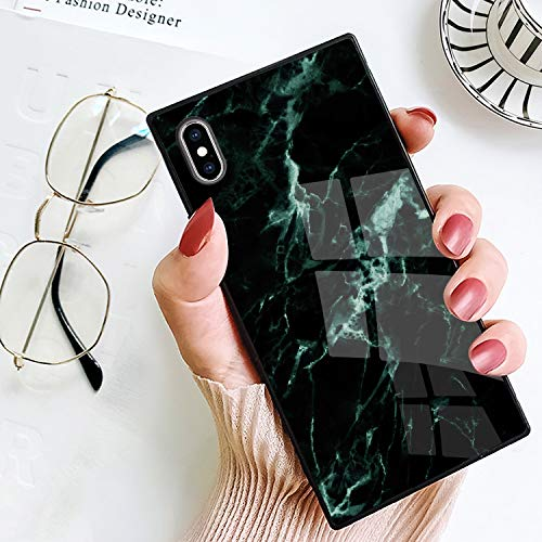 BestCasee Phone Case for iPhone Xs Max, Square Classic Marble Design Novelty Soft TPU Shockproof Protective Cover Case for iPhone Xs Max 6.5 Inch(2018)