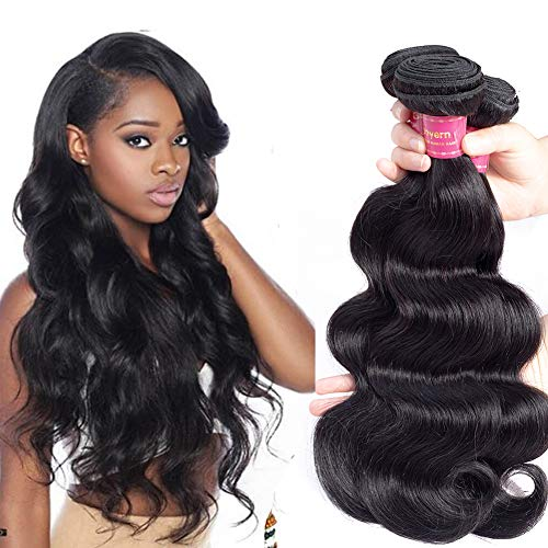 Geoyern Brazilian Body Wave Virgin Hair Weave 3 Bundles Grade 10A Unprocessed Remy Human Hair Weave 3 pcs (12