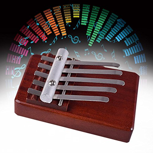 5 Keys Finger Thumb Piano Rosewood Instrument African Musical Instruments CLKJYF